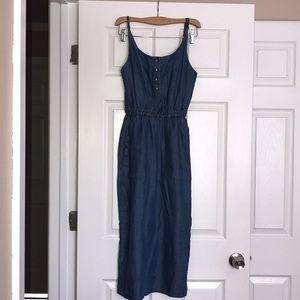 ASOS Denim Midi Dress 0